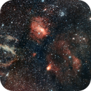 Lobster Claw and other nebulae - 1st try hyperstar mosaic,                                Charles Harris