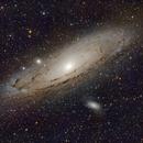 M31 Andromeda Galaxy - LRGB,                                Justin Katsinis