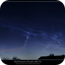Noctilucent Clouds (NLC's) 25th June 2018. Prestwich, Manchester UK,                                Mike Oates