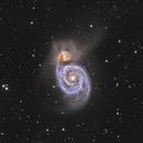 M51 - LRGB a closer view,                                Martin Dufour