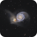 M51 two-scope composite,                                Olly Penrice