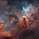 Melotte 15 in the Heart of the Heart nebula (IC 1805) - SHO marathon !,                                Ewam