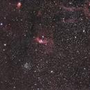 M52 et La Bulle (NGC 7635),                                PascalB