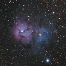 Trifid Nebula @ 750mm,                                BQ_Octantis