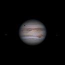 Jupiter 2020-07-25. Io, Callisto (shadow), Europa, and GRS,                                Pedro Garcia