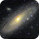 M31, Great Andromeda Galaxy, LHRGB on ST-80, 25-26 Sep 2017,                                David Dearden