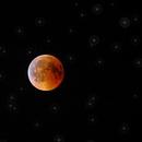 Mondfinsternis 2018 mit Sternen,                                Stefan Baumgartner