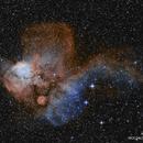 NGC2467 in Ha[OIII] Bicolor,                                jheppell