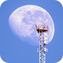 """Moon above Cell Tower """"La Vigie"""" - Lens 1200 mm - June 3, 2018 - One shot,                    Ray Caro"""