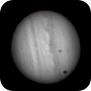Jupiter with spot and Moon,                                Ron Hunt