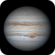 Jupiter - 2 images 1 hr 20mins apart with the GRS in transit,                                Niall MacNeill