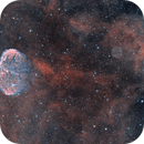 Crescent & Soap Bubble Nebulae in HOO (NGC6888 & PNG75.5+1.7),                                  Jean-Baptiste Auroux