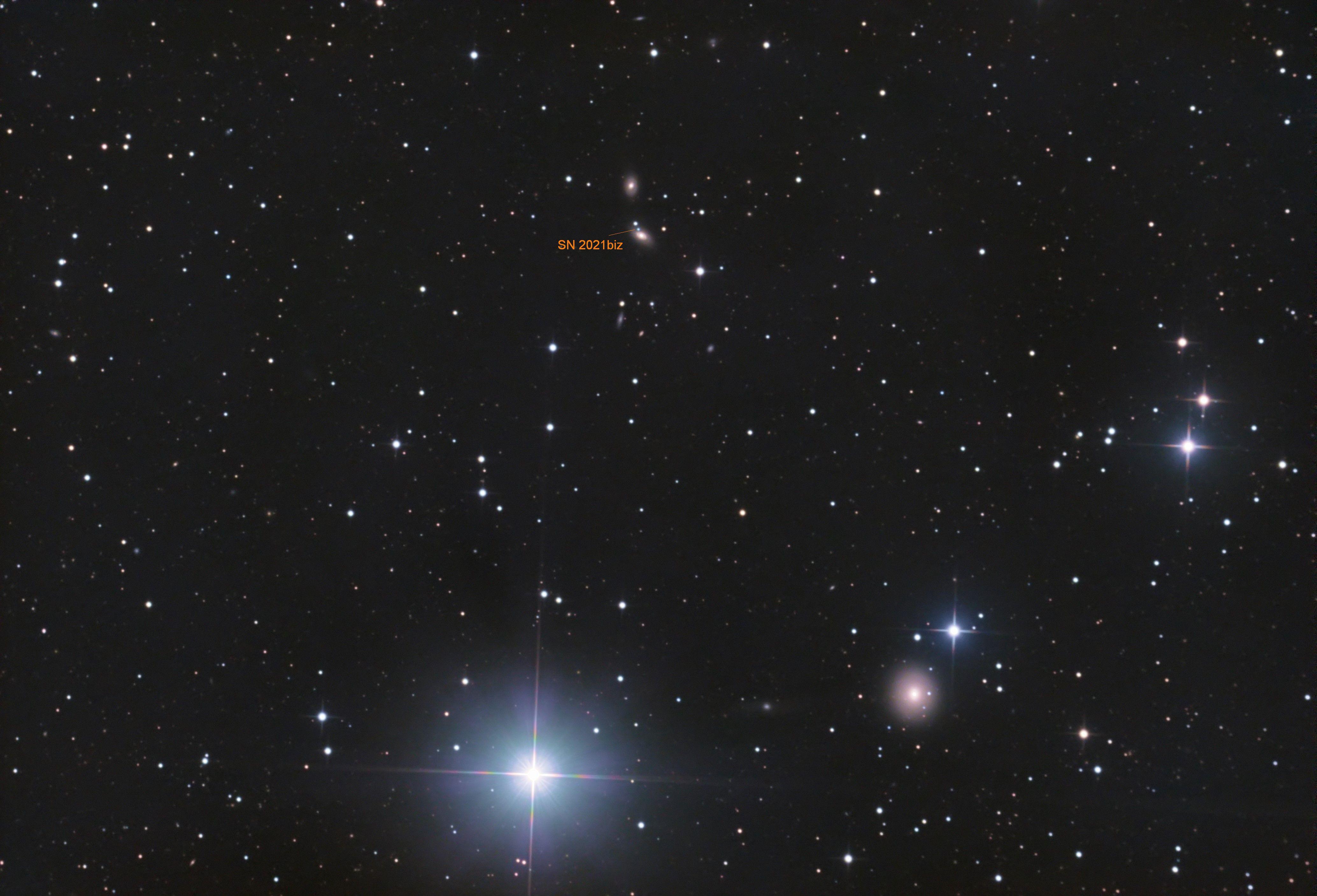 SN 2021biz in NGC 4227,                                CCDMike