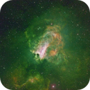 M 17 in Sagittarius:  A View in Narrow Band Mapped in HST Pallete - Now With Image_Rev-D -,                                Fernando