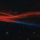 Cygnus Loop blast wave, NB bi-color by HST,                                Leo Shatz