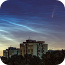 C/2020 F3 (Neowise) and NLC clouds over New Zagreb,                                Neven Krcmarek