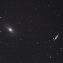 Bode's Nebulae + Cigar Galaxy (M81 + M82),                                Mike Sheffler