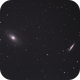 Bode's Nebulae + Cigar Galaxy (M81 + M82),                                Mike Sheffler