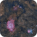 Big Foot  in Sagittarius M8 - M20 - IC 4685,                                Michel Lakos M.