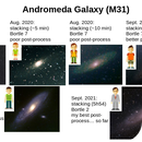 14-month progression on the Andromeda Galaxy,                                Nick Large