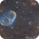 NGC6888 - Crescent Nebula in SHO Narrowband,                                  Simon Todd