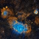 Lagoon (M8) and Trifid (M20) Nebulae,                                Jeff Ridder