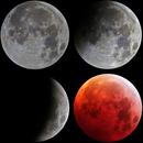 Mondfinsternis 2019- Die verschiedenen Phasen,                                Christian Dahm