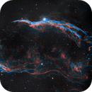 Western Veil Nebula and Pickering's Triangle in HOO,                                AstroForum