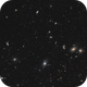 Virgo Galaxy Cluster - the 'Ball and Chain': 8 panel mosaic,                                  Steve Milne