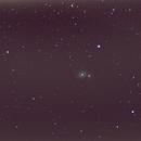 M51 à la lunette Antares 80/400,                                gbs