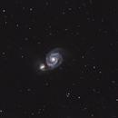 M51 and NGC 5195,                                Hans van Overzee