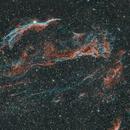 Veil Nebula Complex in Bicolor Ha & OIII - 1st hyperstar v4 image,                                Robert Huerbsch