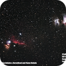 The Horse Head & Flame Nebula and The Orion & Running man Nebula,                                Noahasnoah