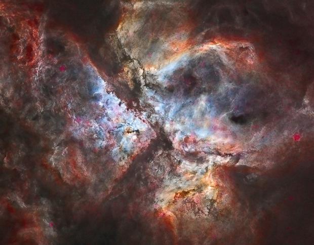 NGC 3372 - Carina Nebula - Starless Ha-RGB,                    Ray Caro