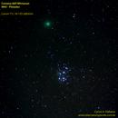 Comet 46P Wirtanen and M45 Pleiades,                                Carlos Alberto Pa...