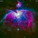 m42 nebulosa a emissione di orione                                     distanza 1.344 A.L.,                                  Carlo Colombo