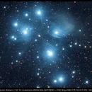 M45 - Pleiades/Seven Sisters | SC 3.1 Livestack 255x30s QHY183C L-PRO Esprit80 f/5 AVX PI PS | 14/01/2018 | Minos K,                                minoSpace