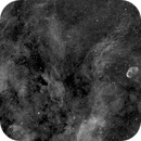NGC 6888 & IC 1318, Ha,                                Stephen Garretson