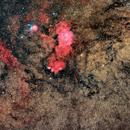 Lagoon and Trifid Nebula Wide Field,                                Jeff Hall