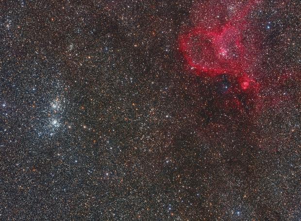 Wide field - Perseus Double Cluster and Heart Nebula,                                Alberto Pisabarro