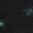 Comet 46P/Wirtanen and M45 Pleaides,                                Jeff Kraehnke