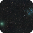 Comet 46P/Wirtanen and M45 Pleaides,                                  Jeff Kraehnke