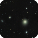 M 87 with relativistic jet (and surrounding globular cluster?),                                CCDMike