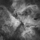 Carina Nebula in H-alpha with canon 450D mono modded,                                Ignacio Diaz Bobillo