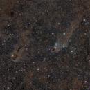 Dark nebulae in Cepheus,                                bbright