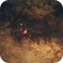 Lagoon and trifid nebula in wide angle,                                  MaciejW