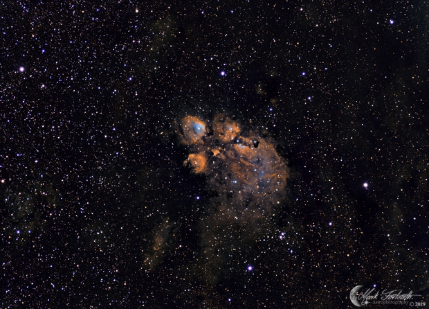 NGC6334 Cat's Paw Nebula in Hubble Palette,                                Mark Forteath