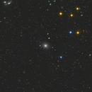 m87, et jet de gaz au centre de la galaxie,                                ffclad