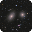 From Mirror Galaxy (M100) to Markarian's Chain - 3-Panel Mosaic,                                Chen Wu