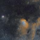 SH 2-101 The Tulip Nebula in SHO Palette, Deep Sky West Data,                                JohnAdastra